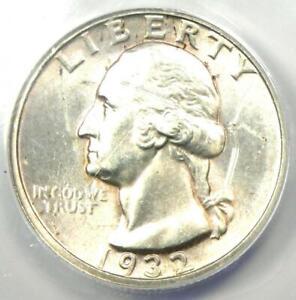 1932-D Washington Quarter 25C - Certified ANACS MS60 Details (UNC - Scratches)