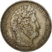 [#491411] Monnaie, Louis-Philippe, 5 Francs, 1844, Paris, TTB, Argent, Gadoury
