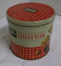 Alte Blechdose Trüller Celler Ruhm Kekse Gebäck  Werbung Dose True Vintage