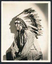1931 JIM THORPE, DBL WT Studio Photo Wearing Indian Head Dress