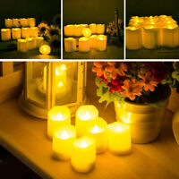 6Pack Remote Flameless LED Pillar Candle Electric Timer Candles Wedding+Battery
