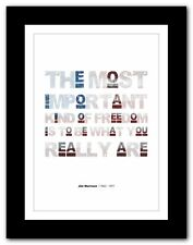 More details for jim morrison ❤ typography quote poster art limited edition print the doors #21