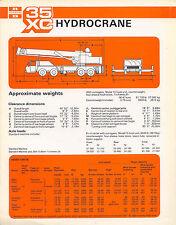 Ruston Bucyrus 35XC Hydrocrane Brochure