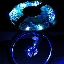 1/2pcs Rechargeable LED RGB Colorful Bike Wheel Hub Light Bicycle Spoke Light