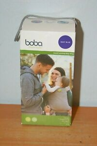 Boba Baby Wrap Carrier Navy Blue Newborn Sling 0-36 months 7 to 35 lbs.