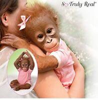 Annabelle Hugs Monkey Baby Doll Poseable Vinyl Ashton Drake