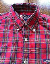 RALPH LAUREN Men's Shirt Check Plaid Button Down CHAPS Long Sleeve Size M Cotton