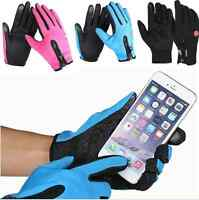Unisex Women Men Winter Sport Touch Screen Cycling Warm Windproof Gloves Mittens