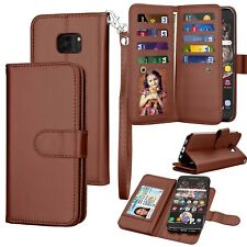 For Samsung Galaxy S7 /S7 Edge Wallet Leather Phone Case Flip Stand Holder Cover