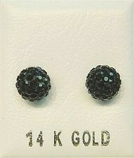 14k Gold Ball Earring Studs - 7mm