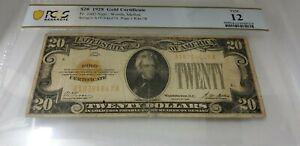 1928 $20 Gold Certificate FR-2402 - PCGS Fine 12