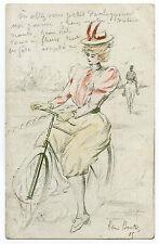 "HENRI BOUTET  SéRIE  "" A BICYCLETTE "" N° 85"