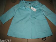 NWT BABY GAP GIRLS PRETTY LITTLE THINGS AQUA BLUE COAT SIZE 18-24 MONTHS