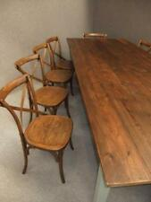 LARGE FRENCH FARMHOUSE TABLE & 10 BENTWOOD CHAIRS