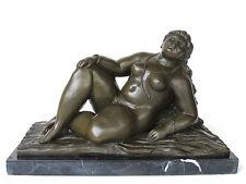 Bronze Figur von Nick *dicke Frau* Frauenakt 7 kg Skulptur 20642
