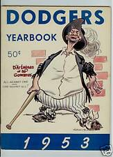 1953 BROOKLYN DODGERS MLB YEARBOOK