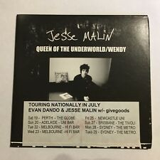 Jesse Malin Queen Of The Underworld / Wendy CD Promo Card Sleeve.  (21A19)