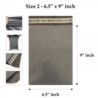 1000 x Grey Mailing Bags Strong Parcel Postage Post Poly Self Seal -