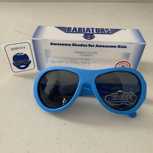 Babiators ages 0-2 True Blue Bright Sunglasses Shades Aviator NEW UV Protection