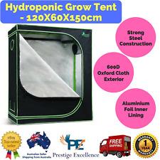 New Hydroponic Grow Tent - 120 X 60 X 150 cm with Three Ventilation Windows