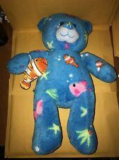 "New Build a Bear Deep Sea Aqua Blue 16"" Teddy Nemo Clownfish Stuffed Plush Toy"