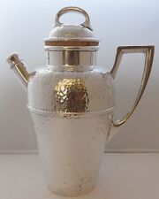 1930's American Hand Hammered Silver Plated Cocktail Shaker Excellent Condition
