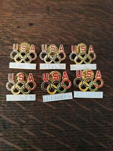 Lot of 6 USA Olympic pins