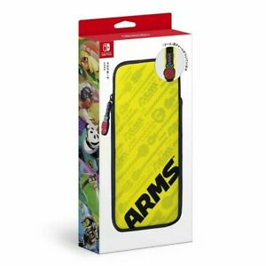 Nintendo Switch Multi Pouch Case ARMS Yellow NSL-0001 4907437807508