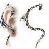 Punk Drachen Ohrring Drache Gothic Ohrstecker Ohrklemme Ohrringe Ohrschmuck Gift