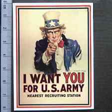I Want You US Army Poster Sticker Skateboard Guitar Bike Car Vinyl Laptop Decal