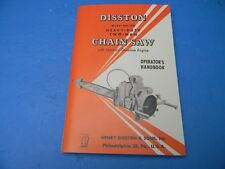 DISSTON MODEL DH-120 DH 120  CHAINSAW OPERATOR'S HANDBOOK MANUAL NEW 64 PAGES