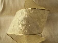 Gold Ribbon,3 In Wide,Wired Edge, 4 YARDS, Christmas, Weddings, Bows, Wreaths