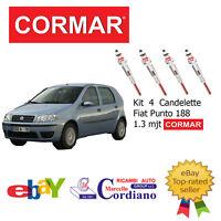 KIT 4 CANDELETTE FIAT PUNTO 188 MK2 1.3 MJT DA ANNO 2003 CORMAR