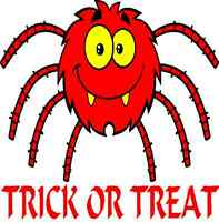 30 Custom Red Trick Or Treat Spider Personalized Address Labels