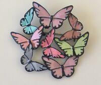 Unique  butterfly  brooch pin  enamel on metal