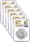 2021 Morgan and Peace Dollar 100th Anniv 6 Coin Set NGC MS70 First Day of Issue