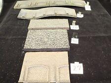 Spur N H0 TT 5 x Dekorplatte Mauerplatte teils mit Arkaden in Natursteinoptik