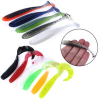 5/6 PCs Soft Rubber Capuchin Maggot Fishing Worm Bait Bass Crank Lures T Tail