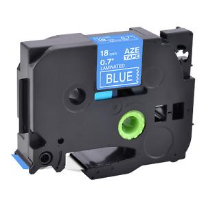 "1PK Compatible Brother TZ-545 TZe-545 White on Blue Label Tape Cassette 0.7"""