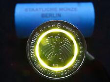 """NEU: 5 Euro 2018 """"Subtropische Zone"""" A aus original Rolle orangen Polymer Ring"""