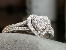 Kay Jewelers Heart Diamond Promise Ring Cluster 10k White Gold Size 6.75