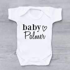 Pregnancy Baby Announcement Baby Vest Grow Bodysuit Personalised Name