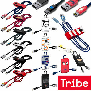 Tribe - Licensed Apple Lightning and Micro USB Cables - DC MARVEL STAR WARS