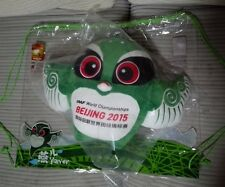 2015 BEIJING IAAF WORLD CHAMPIONSHIP OFFICIAL MASCOT GREEN PLUSH TOY 350mm