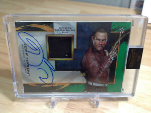 2020 TOPPS WWE FULLY LOADED JEFF HARDY TURNBUCKLE PAD RELIC AUTO #11/50