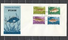Tristan da Cunha, Scott cat. 243-246. Various Fish on a First day cover.