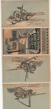 Rare Catalog Brochure Trade Cards Victor Mower Niverville Ny 1875 Farm Machines