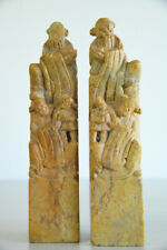 More details for pair chinese soapstone hand seals
