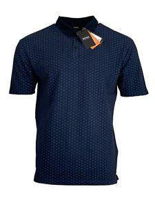 Hugo Boss Men's Polo Shirt Pevario Regular Fit Headphones Print - Dark Blue/Blue
