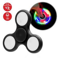 LED Light Fidget Spinner Tri-Spinner Focus Toys ABS Finger Ball Kids - Black